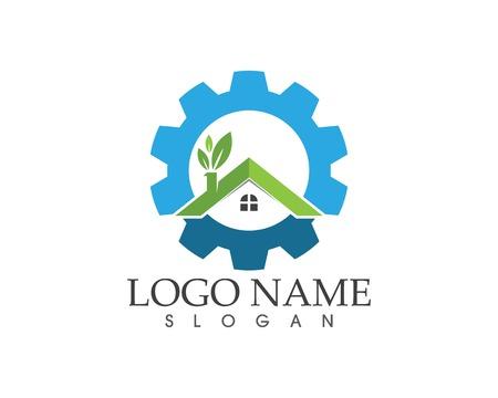 Building home nature service logo design