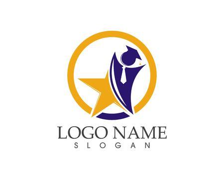 Star people education logo design concept