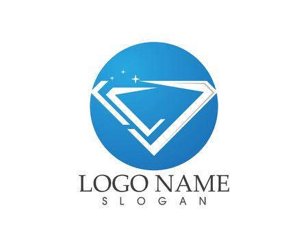 Logo-Designkonzept mit blauen Diamanten Logo