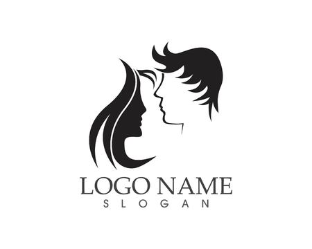 Haircut style logo design vector illustration Vettoriali