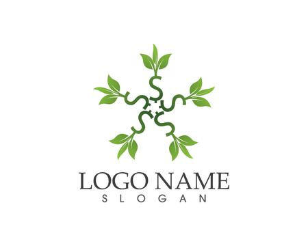 Business finance money plant logo template