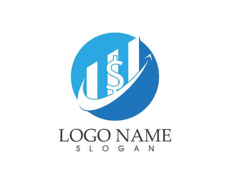 Business finance logo design concept