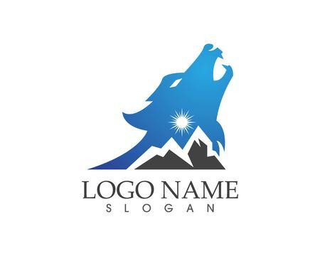 Wolf head logo design vector illustration Logo
