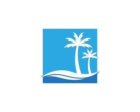 Illustrazione vettoriale di design del logo dell'albero di cocco