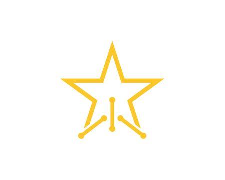 Star techno logo design concept Illusztráció