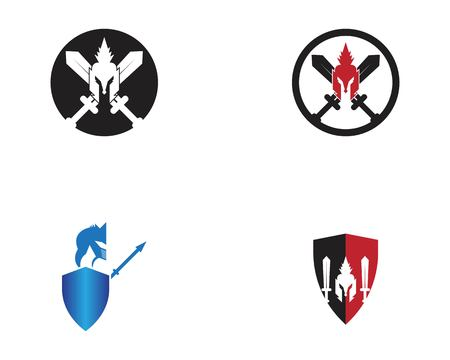 Spartan icon logo design vector illustration