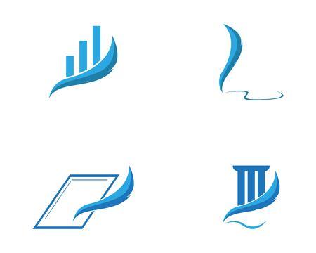 Feather pen write sign logo