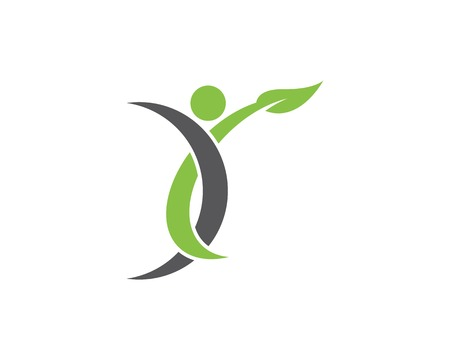 Human active logo template