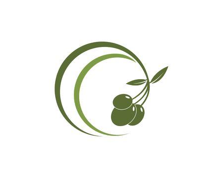 Olive oil logo design template Logo