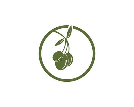 Olive oil logo design template Ilustracja