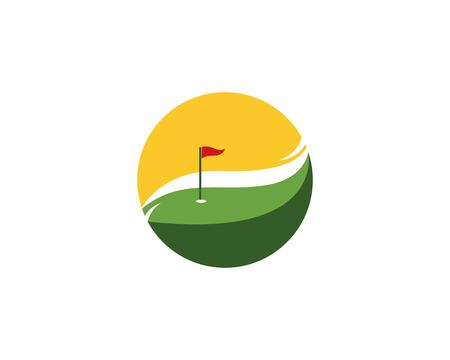 Golf logo design vector illustration Illusztráció