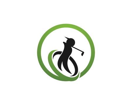 Golf-Logo-Design-Vektor-Illustration
