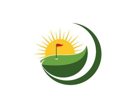 Golf logo design vector illustration 矢量图像