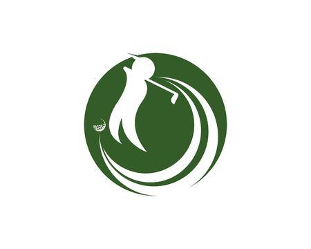 Golf logo design vector illustration