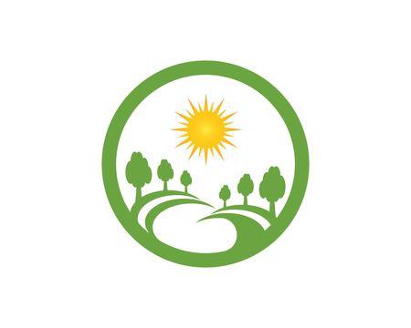 Road tree logo vector Stock Vector - 115783569
