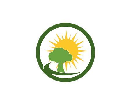 Road tree logo vector Illustration