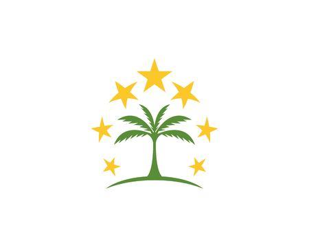 Coconut  tree icon logo vector template Illusztráció