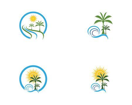 Coconut tree logo vector Logo