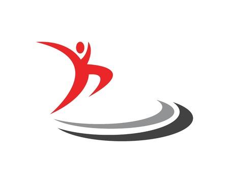 Human character logo vector template Stock Illustratie