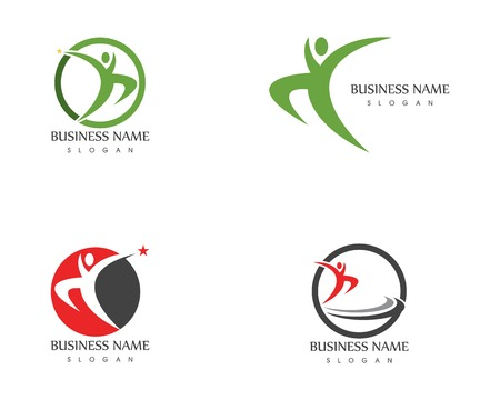 Human character logo vector template Illustration