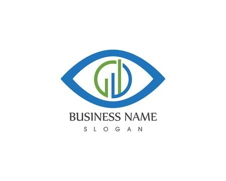 Geschäftsfinanzikone mit Augendesignillustration