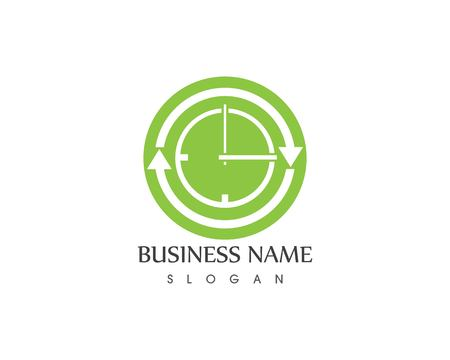 Clock sirculation icon logo template