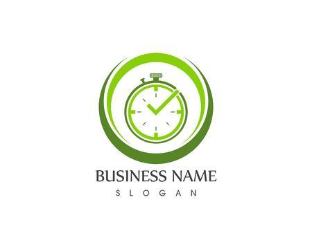 Clock icon logo template Illustration