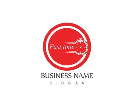 Fast time logo design concept
