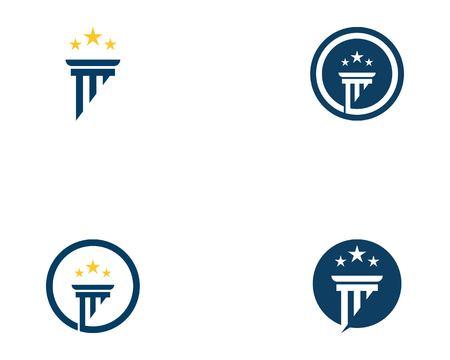 Column icon logo vector template