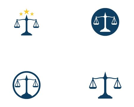 Law firm logo vector template Illustration
