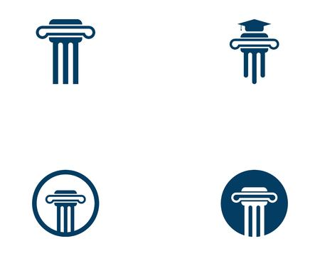 Column icon logo vector template