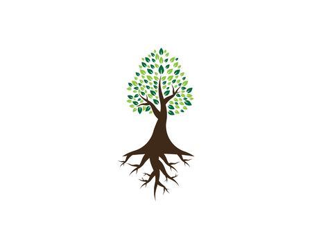 Tree icon logo vector illustration Stock Vector - 116158620