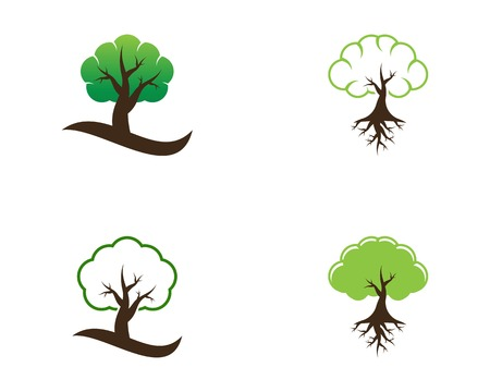 Trees icon logo vector illustration