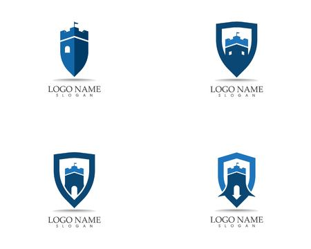 Castle logo design vector illustration Standard-Bild - 116190115