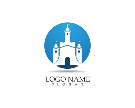 Castle logo design vector illustration Standard-Bild - 116190122