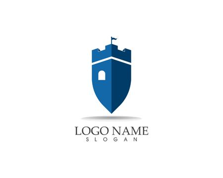 Castle logo design vector illustration