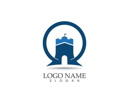 Castle logo design vector illustration Standard-Bild - 116190133