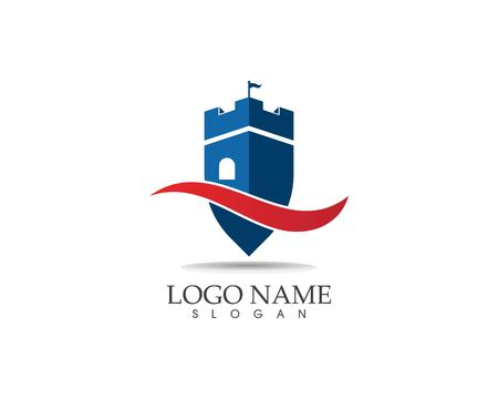 Castle logo design vector illustration Standard-Bild - 116190134