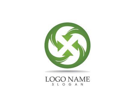 Arrows vector illustration icon logo design template