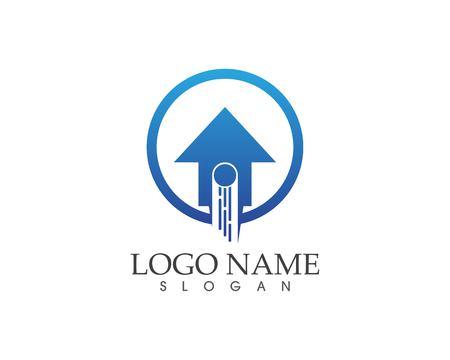 Fast arrow logo vector template Illustration