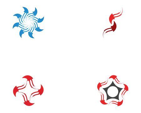 Circle arrows logo vector template