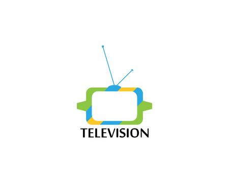 Television logo vector template