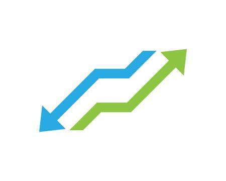 Business arrows logo vector template