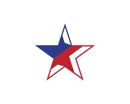 Star logo vector template