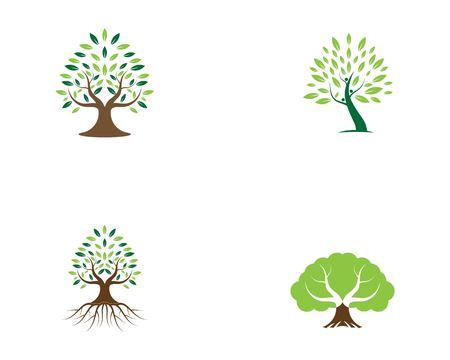 Tree logo vector illustration Stock Vector - 116365664