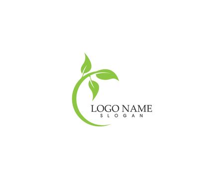 Nature plant logo design vector template Logo