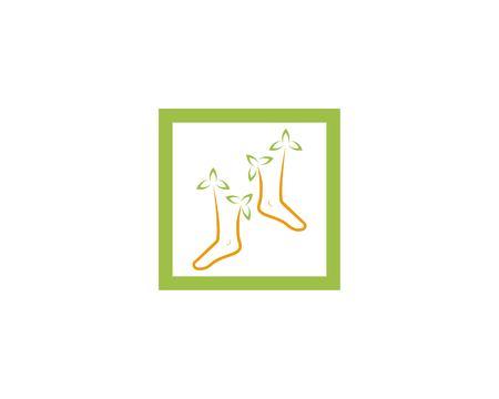 Nature foot health logo template