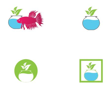 Nature aqua scape logo vector