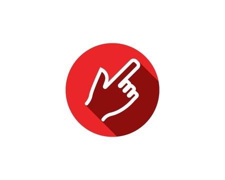 Hand touch logo vector