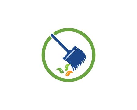 Cleaning icon logo template vector